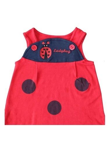 By Bebek Odam Laci Bandanalı Askılı Elbise Renkli
